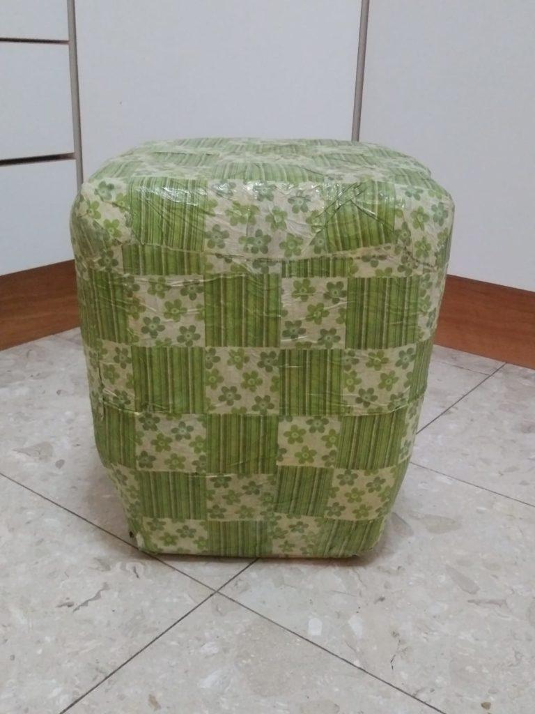 כסא מבקבוקים - תוצר סופי