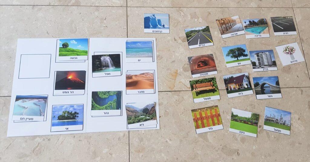 דף עם תמונות של נופים שאינם ברי חלוף